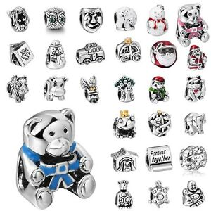 Cute-Cartoon-Charms-Animal-European-Bead-Fit-925-Sterling-Silver-Bracelets-Chain