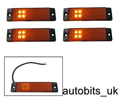 flexzon 2X Mini Side Rubber Marker Lights Lamp TRAILER TRUCK 12//24V E-MARKED A-201 NEW