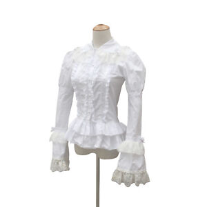Victorian Downton Abbey Riding Shirt Blouse Steampunk Theater Halloween Costume