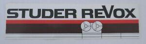 Promotional Stickers Studer Revox Tape Band Machine Hifi Audio 80er