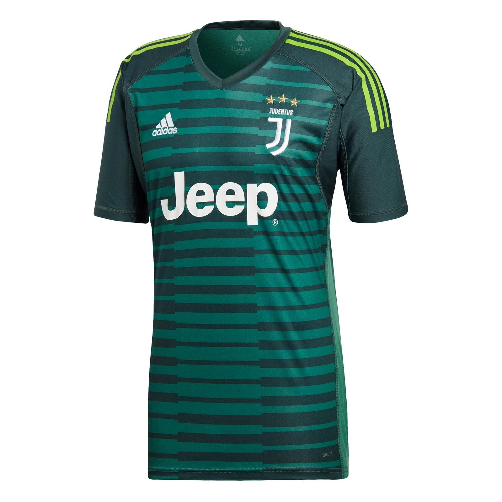 Juventus Heim Torwart hemd Hemd Gestreift Kurzarm 2018-19 Herren Fußball