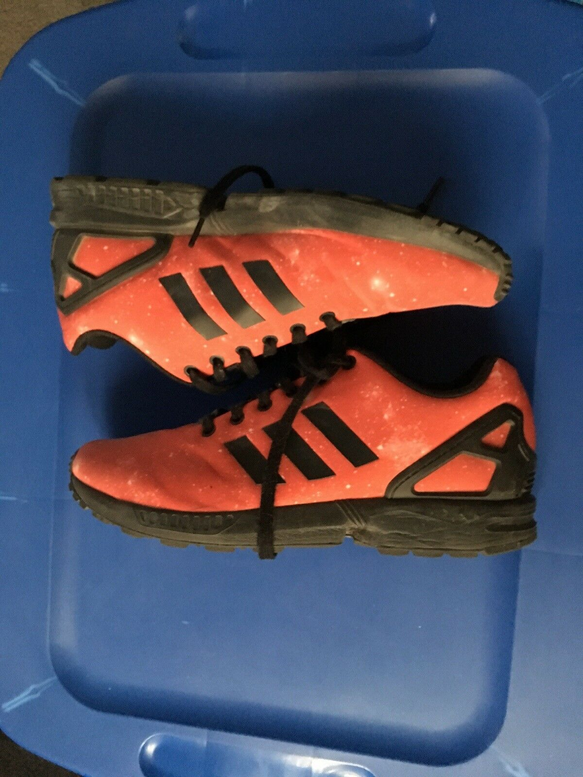 Adidas zx zx Adidas zx Adidas flux rosso And Nero Size 10 19267a   e31d30