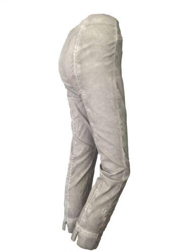 Rose 09 Robell 7//8 Stretchhose im Used Look mit Spitzenbesatz