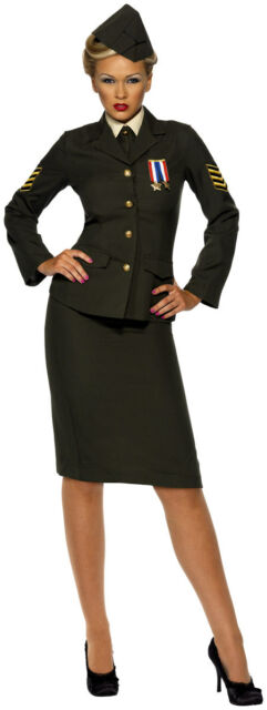 Ladies 1940s Sailor Officer Uniform Fancy Dress Costume Outfit 8-26 Plus Size
