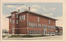 High School in Webster City IA Postcard