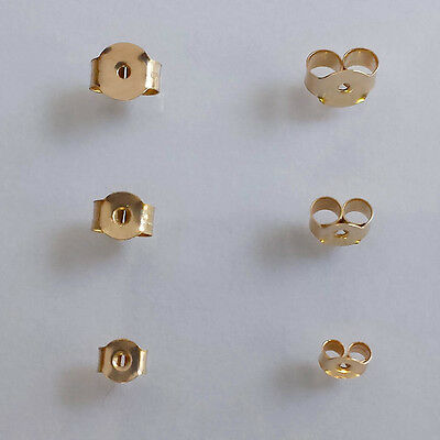 9 ct Solid Yellow Gold Stud Earring Butterfly Back Scrolls MULTI LISTING