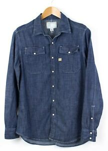 G-Star-Raw-Uomo-Camicia-Denim-Casual-Taglia-M-LZ65