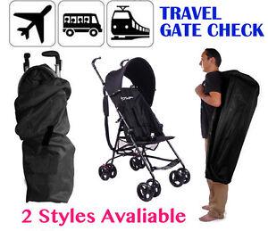 Image Is Loading Gate Check Stroller Travel Bag Umbrella Pram Pushchair