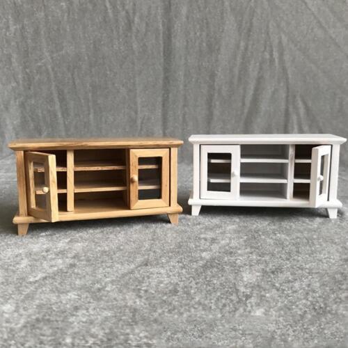 Mini 2 Colors Wooden Cabinet for 1//12 Scale Dollhouse Miniature Home Decor 2019