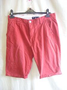 """Gastfreundlich Mens Shorts Holmes & Co Red 32""""w Products 7401 SorgfäLtig AusgewäHlte Materialien Distressed Detail"""