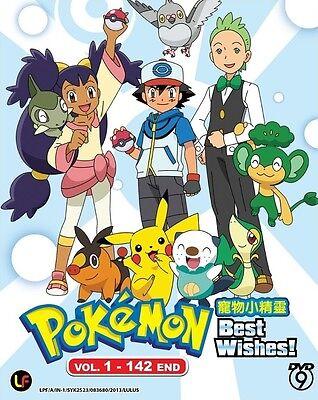Pokemon Best Wishes! (Black & White) (Season 14-16)   TV Series   DVD   Eng  Sub   eBay