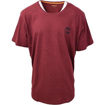 Timberland Men's Maroon Mini Tree Logo S/S Tee (Retail $35) S22