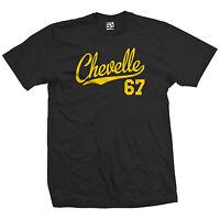 Chevelle 67 Script Tail Shirt - 1967 Classic Muscle Race Car - All Size & Colors