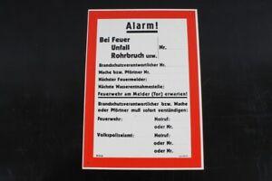 Advertencia-Placa-Alarma-Nummerntafel-Llamada-Proteccion-Incendios-29-8cm-x-21cm