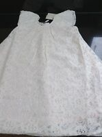 Monsoon Ivory 'lucette' Lace Occasion Dress. Age 6-12 Months. With Tag.