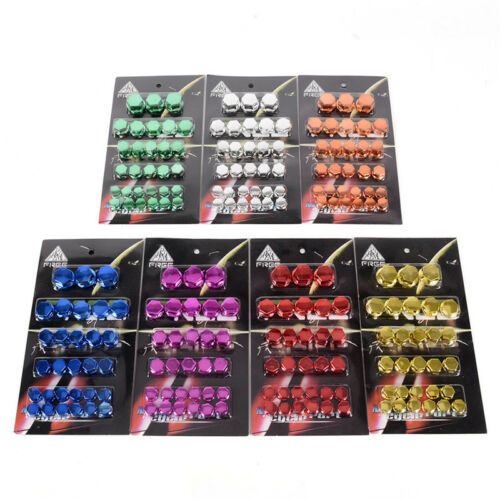 30x Motorcycle Screw Nut Bolt Cap Cover Decoration Centro Motorbike Ornament G$
