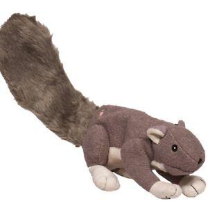 "Hugglehounds BIG FELLER Gray Squirrel Dog Toy 22"" Long"