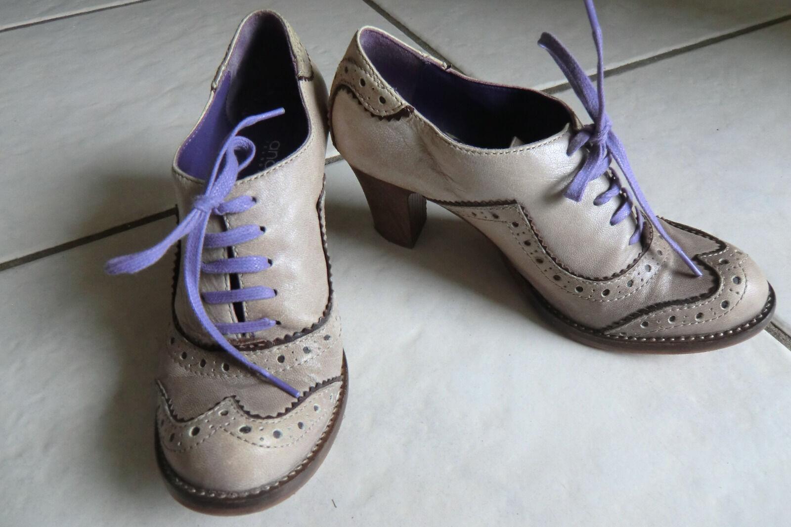Ausgefallene Andiamo Schuhe Gr. 37 Grau/Lila - Neu - NP 169.-