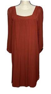 Massimo-Dutti-Rust-Color-Dress-Size-M