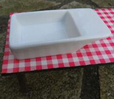 Weißes Miniatur-Keramik-WASCHBECKEN zum Hinstellen o. Einbau in Spülentisch,1:12