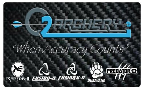 "2.0/"" Predator-II Vanes Q2I ***When Accuracy Counts*** MIX /& MATCH Pkg 100"
