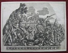 Radierung nach Carlo Cesio: Kampf Aeneas & Turnus 1655/Etching Fight, da Cortona