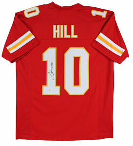 Chiefs Tyreek Hill Authentic Signed Red Jersey Autographed BAS Witnessed