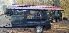 Mega Pitmaster Roof Bbq Smoker Grill Trailer Firewood Storage Mobile Food Truck