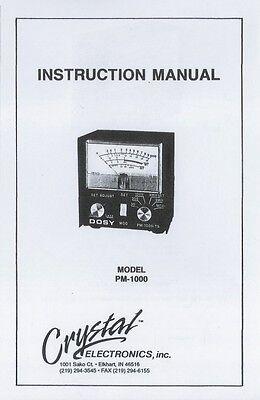 Copy* Dosy TC 4002 PSW CB Radio Test Meter Owner/'s Manual /& Schematic SWR Watts