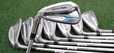 TaylorMade Golf SpeedBlade Iron Set 4-PW&AW - LEFT HAND Steel Regular - NEW