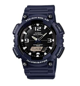Casio Watch * AQS810W-2A2 Tough Solar Illuminator Blue Resin