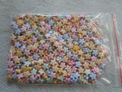 Paquete De 50 gramos ~ ~ acrílico estrellas en forma de perlas ~ 8mm
