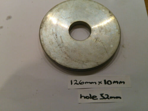 126mm Diameter x 10mm Hole 32mm Round Disc Circle Zinc Plated Sheet Plate Ring