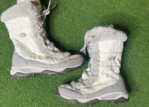 North-Face-Women-s-Nuptse-Winter-Snow-Boots-Goose-down-Fur-Lined-Size-8
