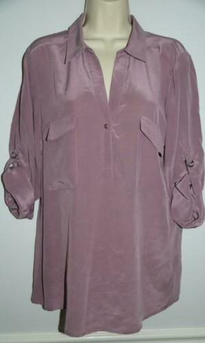 Eileen Fisher Women's Blouse Shirt Silk Lavender S