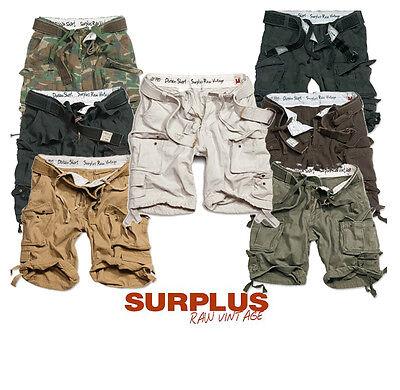 Surplus Herren Vintage Cargo Shorts Bermuda kurze Hose Army BW tarn Forst 5596