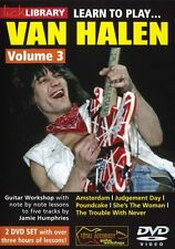 LICK LIBRARY Learn To Play VAN HALEN Lesson Rock TUTOR SONGS GUITAR DVD Vol 3