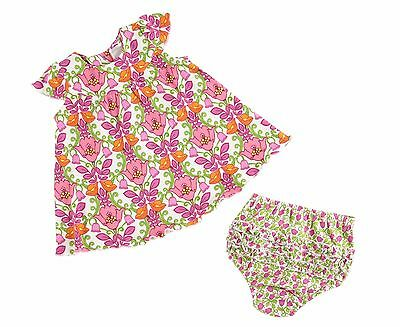 VERA BRADLEY Baby Girl 2pc DRESS and BLOOMERS Set LILLI BELL 6-9 Months $49 BOX