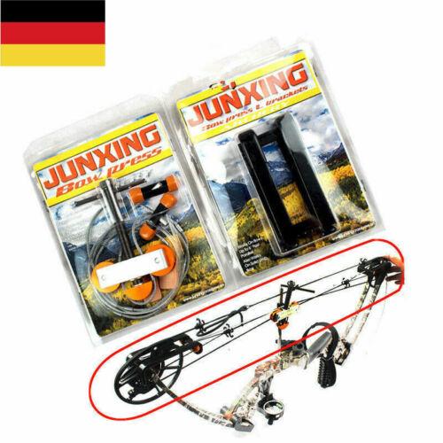 Tragbare Stahl Kabel Bogen Presse für Compoundbögen Jagd Bogenschießen Schwarz