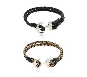 Veganes-Armband-Anker-geflochten-Kunstleder-Ankerarmband-Tribal-Spirit