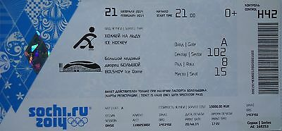 Well-Educated Mint Ticket 21.2.2014 Olympics Karnans Ice Hockey Men Canada Usa H42 Other Olympic Memorabilia