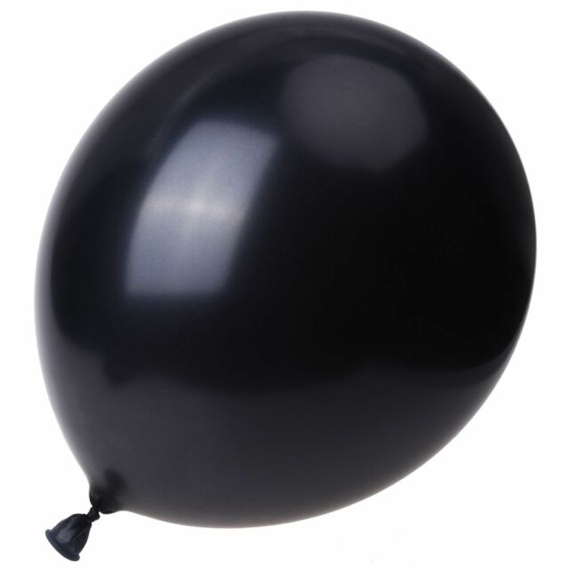 10 x 12 inch Black Wedding Balloons O3H8
