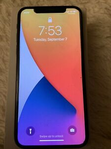 Apple iPhone X, Fully Unlocked, 64GB - Space Gray Otterbox Phone Case, New Glass