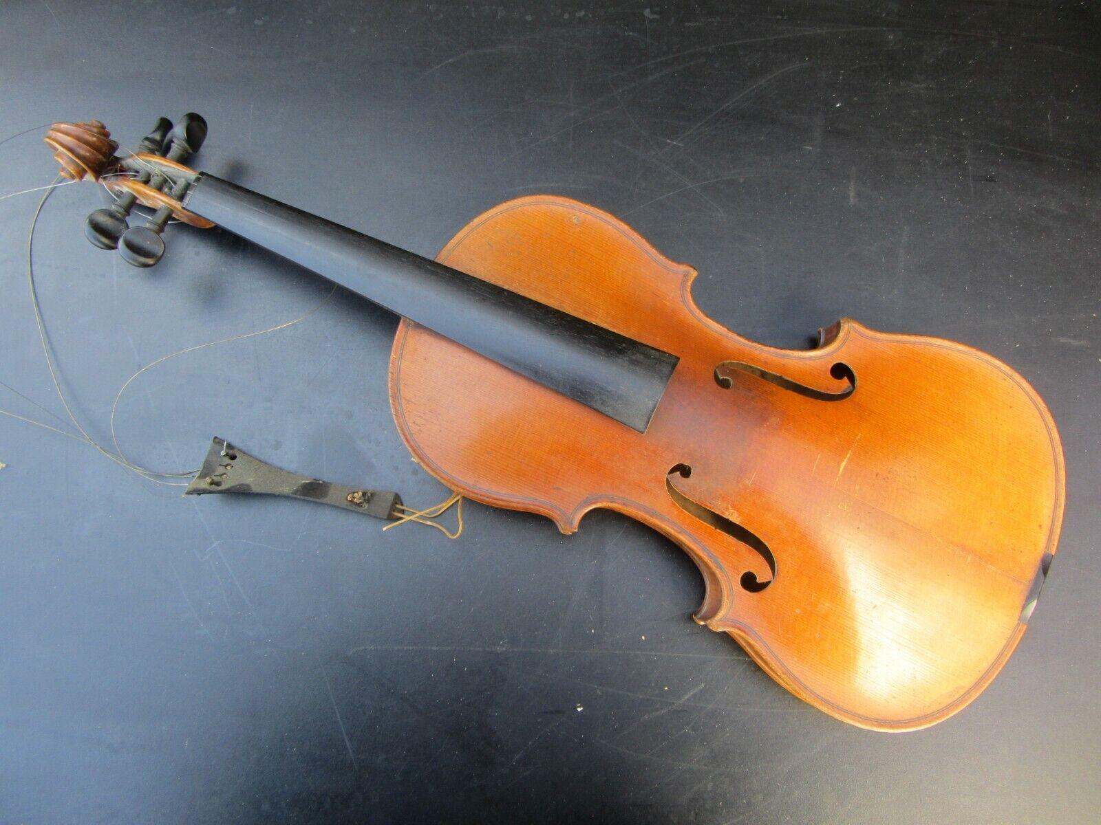 Alte Geige Violine ca 59,5 cm Korpus Full Größe
