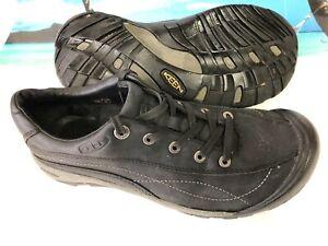 e2f0098ac05 Mens KEEN Briggs Cascade Black Leather Oxford Casual Outdoor Shoe sz ...