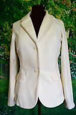LANDS END Fleece Tailored Blazer Size L 18 Softshell Jacket Leisure Chic Wear