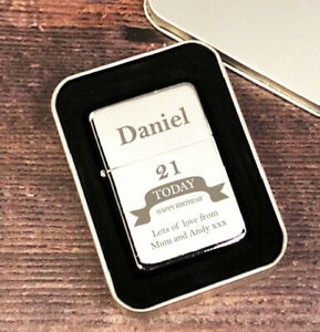 Image Is Loading Personalised Silver Birthday Mens Lighter Gifts Ideas For