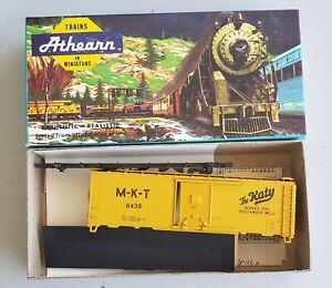 ATHEARN-521-1-M-K-T-034-KATY-034-034-SERVES-THE-SOUTHWEST-034-40-039-BOX-CAR-KIT-6438
