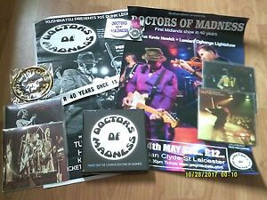 DOCTORS-OF-MADNESS-PERFECT-PAST-CD-BOX-SET-4xCDRs-3-BADGES-PATCH-2-POSTERS