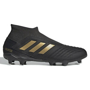 Adidas-Predator-19-3-LL-FG-Mens-Laceless-Soccer-Cleats-Black-amp-Gold-Size-13